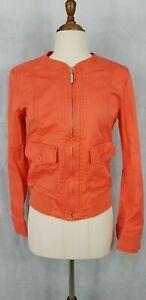 Stile Benetton, Orange Zip Up Jacket, Size 42, AU 10, US 6.