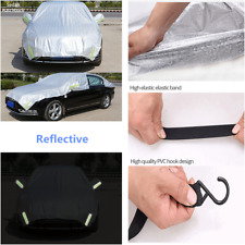 1x Car Semi-body Cover Outdoor Sun Shade Snow Ice Dust Frost Proof Protection