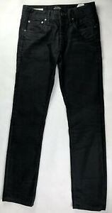 Jack & Jones Denim Jeans Mens W28 L32 Clark Regular Fit Black Button Fly