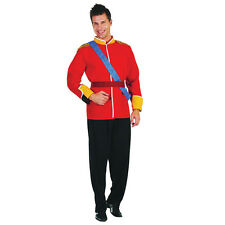 Da Uomo Adulto #military Costume ROYAL BRITISH PRINCE Fancy Dress Outfit completo