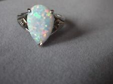 Estate~Alwand Vahan~Opal & Diamonds 14k Gold & 925 Silver Ring Sz 7.5