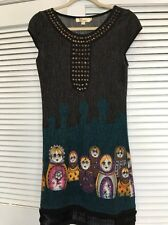 NWOT Anthropologie Aryeh Sweater Dress Russian Dolls Beaded S