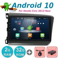 "For Honda Civic 2012 Android 10.0 GPS Car Radio Stereo Navi DAB BT OBD AUX 9""IPS"
