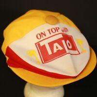 Vintage Cabbie Newsboy Hat Cap Mesh Retro Talo Snapback Yellow Hipster