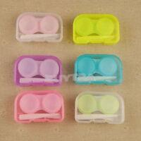 2X Transparent Portable Mini Contact Lens Case Storage Box Holder Containers Fad