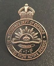 Returned From Active Service Badge (WWI) Replica with FREE Postage