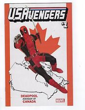 Now Us Avengers # 1 Deadpool Canada Variant Cover Nm