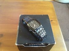 Gents Citizen Eco Drive Black Steel E111-S049377 Fully Working