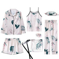 Pajama suit female mulberry Ice silk summer sexy sexy long-sleeved shirt pants