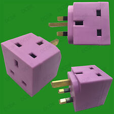 Violeta 2 salidas 13amp enchufe GB 3 Pin Divisor Adaptador, TV, portátil