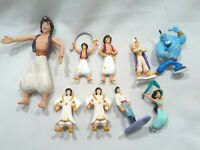 "Disney Aladdin Vintage Figurines Lot of 9 Size 2""-5"""