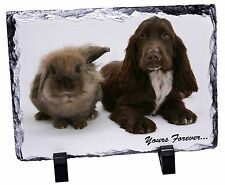 Animals 'Yours Forever' Sentiment Photo Slate Christmas Gift Ornament, AD-SC2ySL