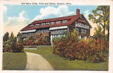 Dayton Ohio 1920s Postcard Old Barn Club Hills and Dales