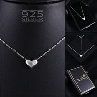 Herz Kette Halskette 925 Sterling Silber Damen ❤ SWAROVSKI ELEMENTS ❤ inkl. ETUI