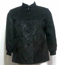 George Ladies Black Jacquard Swing Button Down Jacket - Size 10 New With Tags