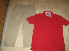Polo Ralph Lauren sz 36 29 beige khakis Prospect pants &Tommy shirt SZ L lot j35