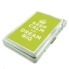 Metal Cigarette Case with Built In Lighter keep Calm and Dream Big Design-001