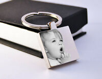 Personalised St. Steel Keyring Photo Engraved FREE P&P | Mother's day Gift