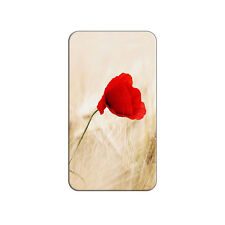 Red Poppy Flower in Wheat Field - Metal Lapel Hat Pin Tie Tack Pinback