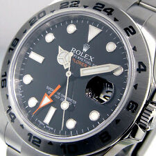 UNWORN ROLEX EXPLORER II 216570 BLACK DIAL MENS 42 mm STEEL OYSTER BRACELET