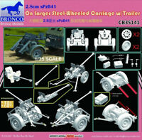 Bronco 1/35 35141 2.8cm sPzB41 On Larger Steel-Wheeled Carriage w/Trailer Hot