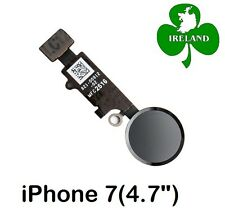 """For iPhone 7 4.7"""" Home Button Fingerprint Touch ID Flex Replacement New Black"""
