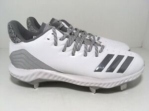 Adidas Icon Bounce Metal Baseball Cleats White CG5252 Men's Size 9