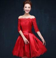 Wedding Formal Womens Ball Gown Lace Cocktail Evening Prom Banquet Prom Dress