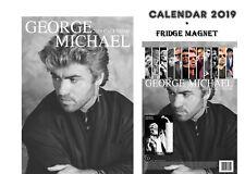 GEORGE MICHAEL CALENDAR 2019 + GEORGE MICHAEL FRIDGE MAGNET