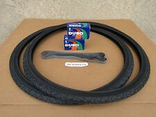 [2] NEW 24''X1-3/8 ALL BLACK BICYCLE OR WHEEL-CHAIR TIRES [2] TUBES & [2] LINER