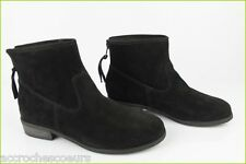 Bottines Boots ANDRE Daim Noir T 38 TBE