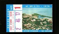 1974 Northwestern v Notre Dame Football Ticket 9/21/74 33178