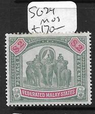 MALAYA FMS (P3110B) ELEPHANT $2.00  SG 24  MOG