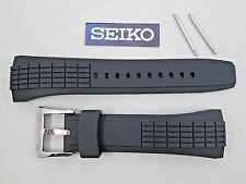 Genuine Seiko Velatura Yachting Timer SPC007 black rubber watch band 26mm 4LJ7ZB