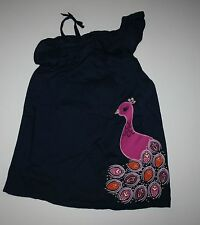 New Gymboree Navy Pretty Peacock Summer Sun Dress Size 2T NWT Spice Market Line