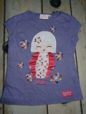 T-shirt violet manches courtes imprimé Kokeshi KIMMIDOLL JUNIOR Taille 5 ans