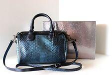 NWOT New COACH Metallic Blue MINI BABY BENNETT X BODY SMALL SATCHEL SHOULDER BAG