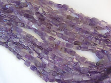 """13 1/2"""" Strand 5-9.25mm Long Natural Amethyst Cube Stone Beads A658 DNG"""