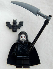 NEW GRIM REAPER LEGO MINIFIG angel of death figure ghost minifigure devil hell
