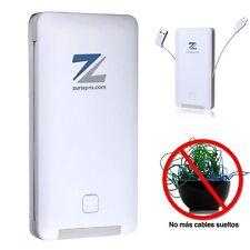 PowerBank. Batería Portátil Universal con cables y adaptadores INCORPORADOS.