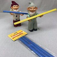 Rainbow Pencils Vintage Hallmark Color Pencils Blue Oval Shaped Multicolor Lead
