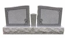 Granite Headstone Double Companion Upright