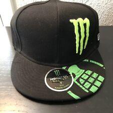 Monster Energy Grenade Fitted Hat New Era Size 7 Black