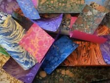 Marbled Paper Peices / Offcuts Craft paper pack / Scrapbooking. Large 30 pieces.