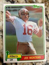 1981 Topps Joe Montana Rookie Card #216. Near Mint.