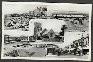 Postcard Burnham on Sea nr Weston Super Mare Somerset vintage multiview RP