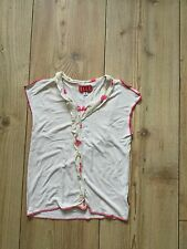Girl's cream short- sleeved Elle top (age 3), pre-owned.