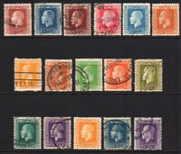 New Zealand 16 Stamps c1913-30 Mounted Mint and Used (6477)