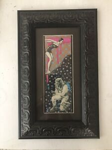Mixed Media Collage Art By Pete Reilly THR Framed