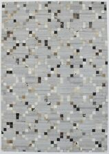 Grey New Contemporary Handcrafted Cowhide Patchwork4X6 Oriental Area Rug Carpet